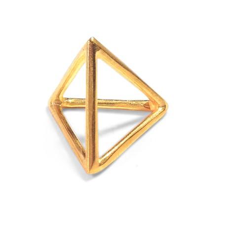 Μεταλλικό Μπρούτζινο Χυτό Μοτίφ Πυραμίδα 3D 20mm