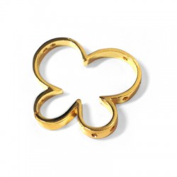 Brass Slider Butterfly with Side Holes 31x26mm (Ø 1.2mm)