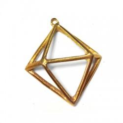 Brass Casting Pendant Diamond 30x30mm