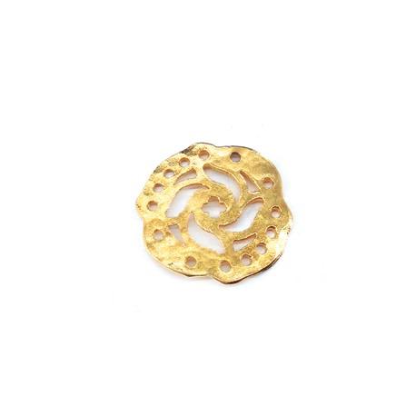 Μεταλλικό Μπρούτζινο Στοιχείο Λουλούδι 19mm (Ø1.2mm)