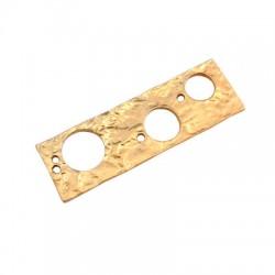 Brass Pendant Rectangular 37x12mm