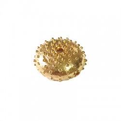 Brass Pendant Sea Urchin 16x7mm (Ø 1.8mm)