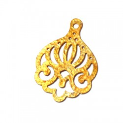 Brass Casting Pendant 43x33mm