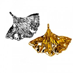 Brass Pendant Leaf 53x45mm
