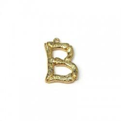 "Brass Pendant Letter ""B"" 15x22mm"