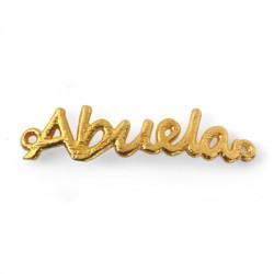 """Μεταλλικό Μπρούτζινο Στοιχείο """"Abuela"""" για Μακραμέ 32x8mm"""