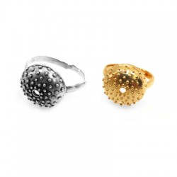 Brass Ring Urchin 22x25mm