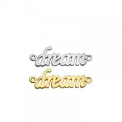 """Connettore in Ottone """"dream"""" 25x8mm"""