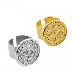 Brass Ring Round w/ Eye 20mm