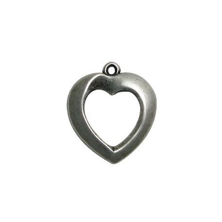Μεταλλικό Ζάμακ Χυτό Μοτίφ Καρδιά 23x28mm