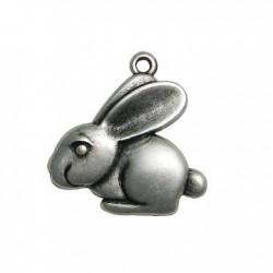Zamak Charm Rabbit 26x27mm