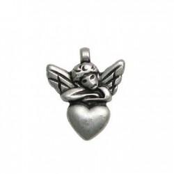 Zamak Charm Angel on Heart 17x20mm