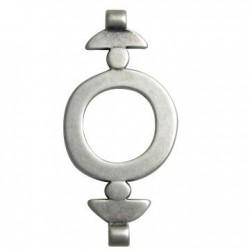Intercalaire Perle en Métal/Zamac, 30x62mm