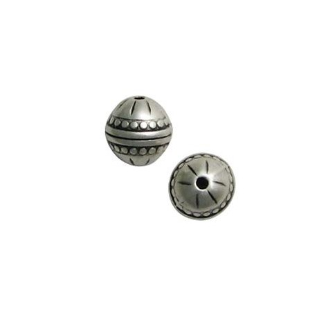 Μεταλλική Ζάμακ Χυτή Χάντρα Μπίλια 12mm (Ø1.8mm)