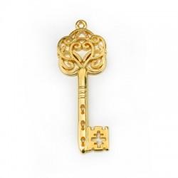 Zamak Lucky Pendant Key 22x60mm