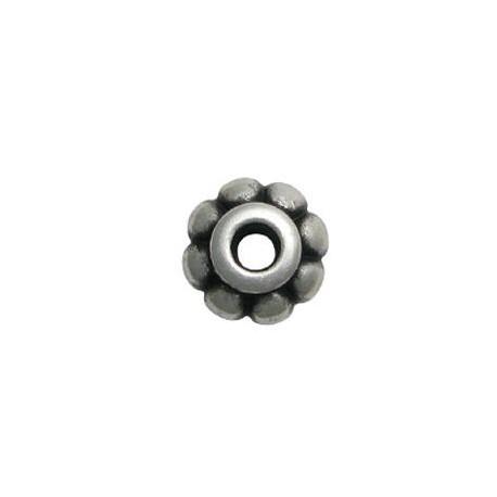 Μεταλλική Ζάμακ Χυτή Χάντρα Λουλούδι 18x10mm (Ø5.25mm)