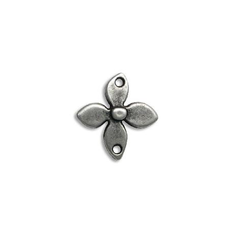 Μεταλλικό Ζάμακ Χυτό Στοιχείο Λουλούδι για Μακραμέ 25x27mm