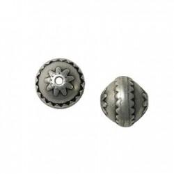 Perle à motif en Métal/Zamac, 16x15mm (Ø 2.2mm)