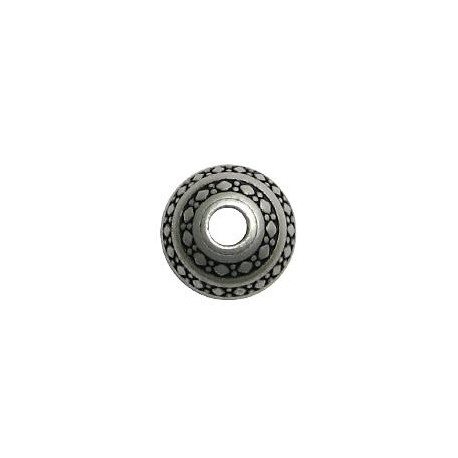 Μεταλλική Ζάμακ Χυτή Χάντρα Μπίλια 21x16mm (Ø5mm)