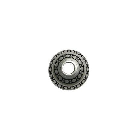 Perlina in Zama Schiacciata con Disegni 21x16mm (Ø 5mm)