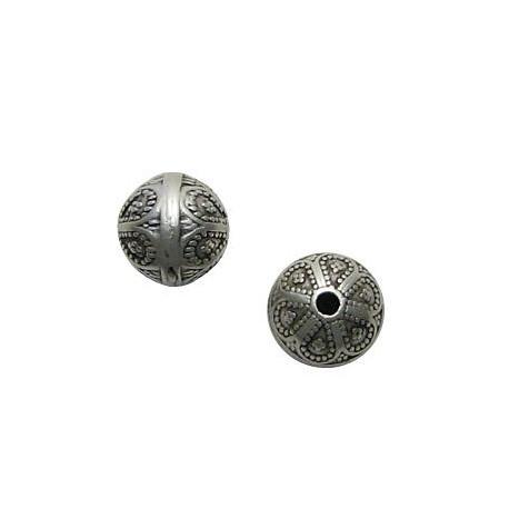 Μεταλλική Ζάμακ Χυτή Χάντρα Μπίλια 12mm (Ø2.2mm)