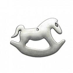 Zamak Pendant Rocking Horse 33x50mm