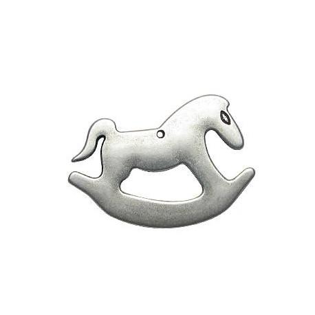 Μεταλλικό Ζάμακ Χυτό Μοτίφ Άλογο Καρουζέλ 33x50mm