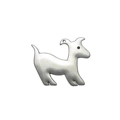 Μεταλλικό Ζάμακ Χυτό Μοτίφ Σκύλος 35x42mm