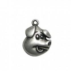 Zamak Charm Pig 20x25mm