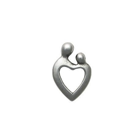 Zamak Pendant Heart Man - Woman 22x34mm
