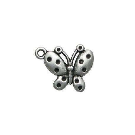 Μεταλλικό Ζάμακ Χυτό Μοτίφ Πεταλούδα 19x23mm