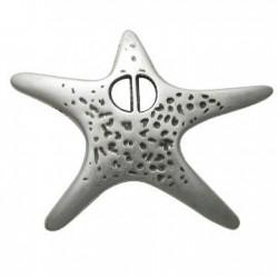 Pendentif Étoile de Mer en Métal/Zamac, 53x69mm
