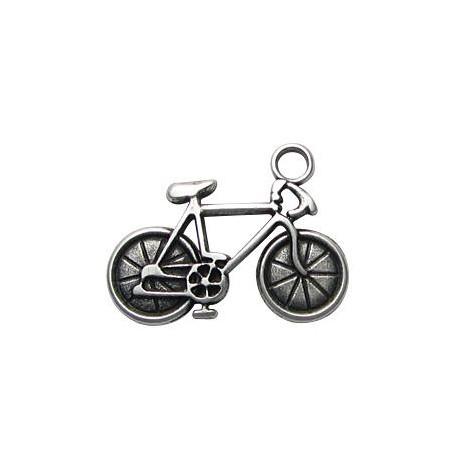 Μεταλλικό Ζάμακ Χυτό Μοτίφ Ποδήλατο 25x33mm