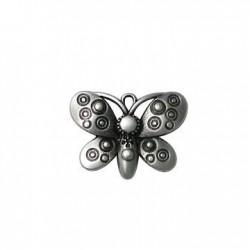Zamak Charm Butterfly 23x30mm