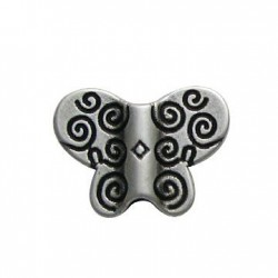 Zamak Slider Butterfly 28x20mm (Ø 4mm)