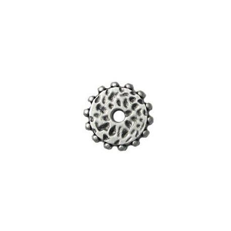 Μεταλλική Ζάμακ Χυτή Χάντρα Δίσκος Σκαλιστός 21mm (Ø3.6mm)