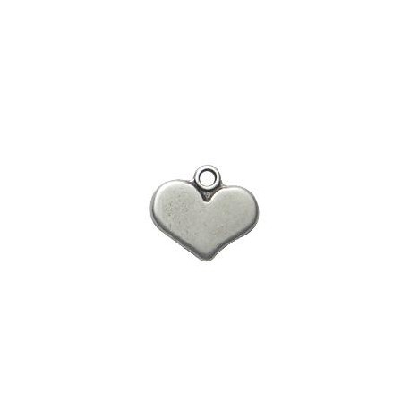 Zamak Charm Heart 10x16mm