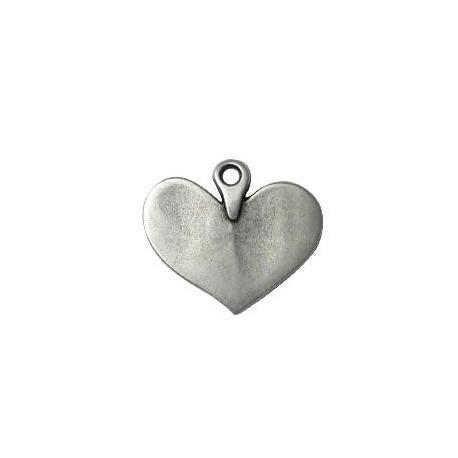 Μεταλλικό Ζάμακ Χυτό Μοτίφ Καρδιά 20x24mm