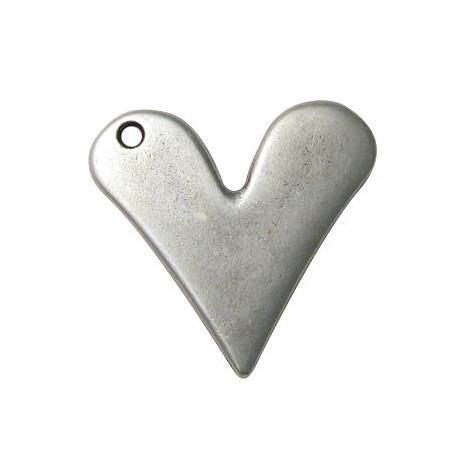 Μεταλλικό Ζάμακ Χυτό Μοτίφ Καρδιά 38x40mm