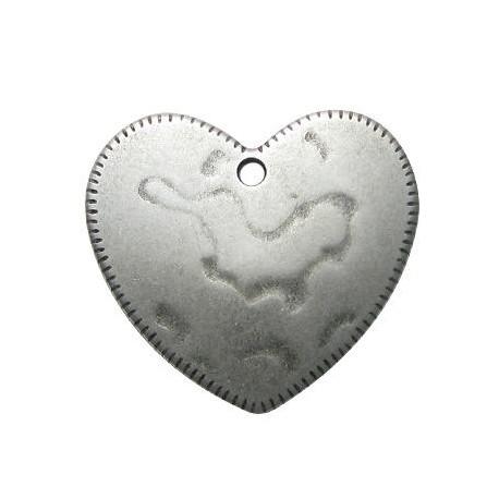 Zamak Pendant Heart 46mm