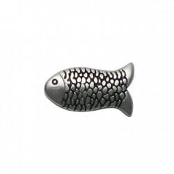 Μεταλλική Ζάμακ Χυτή Χάντρα Ψάρι 9x15mm