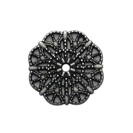 Zamak Charm Flower 22mm