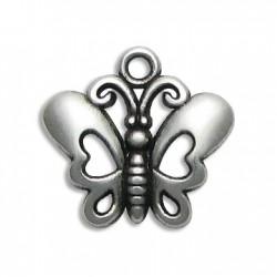 Zamak Charm Butterfly 20x22mm