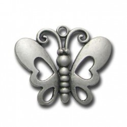 Pendentif Papillon en Métal/Zamac, 44x35mm