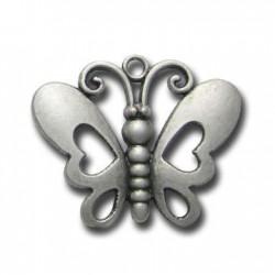 Zamak Pendant Butterfly 44x35mm