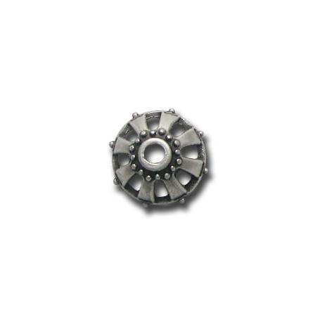 Μεταλλική Ζάμακ Χυτή Χάντρα Καπελάκι 19x10mm