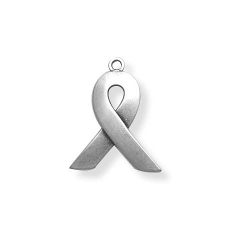 Zamak Charm Against AIDS Sign 18x23mm
