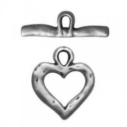 Μεταλλικό Ζάμακ Χυτό Κούμπωμα Καρδιά Σετ 23mm