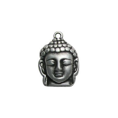 Zamak Charm Buddha Head 21x30mm