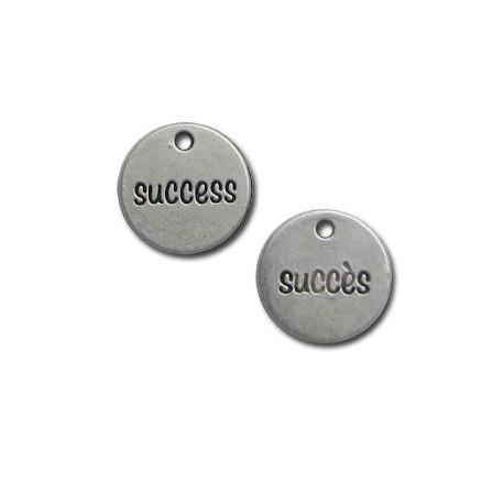 Zamak Charm Round Succes/Success 15mm